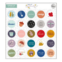 Pinkfresh Studio - Days of Splendor Collection - Flair Chipboard Pieces