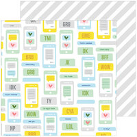 Pinkfresh Studio - Super Cool Collection - 12 X 12 Double Sided Paper - Be Right Back