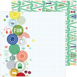 Pinkfresh Studio - Super Cool Collection - 12 X 12 Double Sided Paper - Full Of Adventures