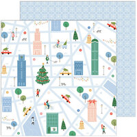Pinkfresh Studio - Oh What Fun Collection - 12 x 12 Double Sided Paper - Holiday Walk