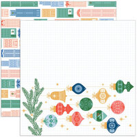 Pinkfresh Studio - Oh What Fun Collection - 12 x 12 Double Sided Paper - Home For The Holidays
