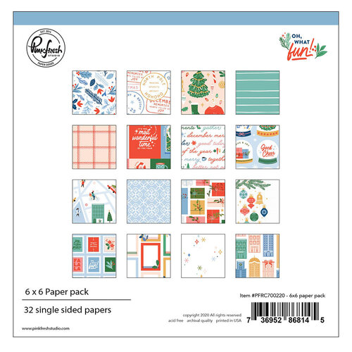 Pinkfresh Studio - Oh What Fun Collection - 6 x 6 Collection Paper Pack