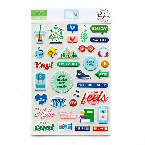 Pinkfresh Studio - Super Cool Collection - Puffy Stickers