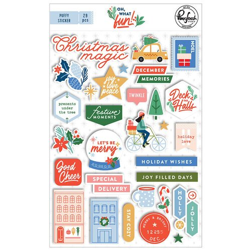 Pinkfresh Studio - Oh What Fun Collection - Puffy Stickers