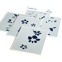 Pinkfresh Studio - Layering Stencils - Seamless Floral Panel