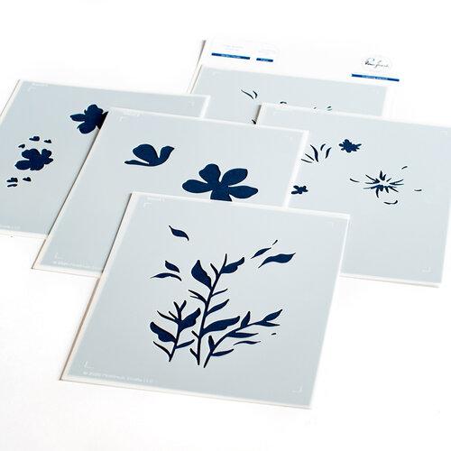 Pinkfresh Studio - Layered Stencils - Garden Florals