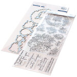 Pinkfresh Studio - Clear Photopolymer Stamps and Die Set - Painted Peony Mix Bundle