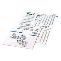 Pinkfresh Studio - Clear Photopolymer Stamps and Die Set - Simply Sentiments - Thank You Bundle