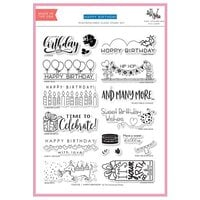 The Stamping Village - Clear Photopolymer Stamps - Stamp Set - Happy Birthday