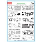 The Stamping Village - Clear Photopolymer Stamps - Stamp Set - Thinking of You