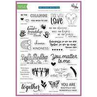 The Stamping Village - Clear Photopolymer Stamps - Stamp Set - We Stand With You