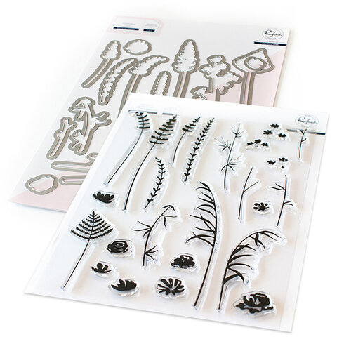 Pinkfresh Studio - Dies and Clear Photopolymer Stamps - Wild Flower Sketches Bundle