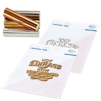 Pinkfresh Studio - Hot Foil Plate, Die and Glimmer Metallic Hot Foil Variety Pack - You Sparkle Bundle