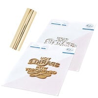 Pinkfresh Studio - Hot Foil Plate, Die and Glimmer Champagne Hot Foil Roll - You Sparkle Bundle