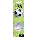 Paper House Productions - Puffy Clips Page Markers - Sports Balls