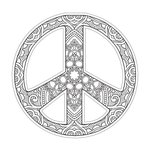 Paper House Productions - Coloring Cards - Peace Sign