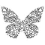Paper House Productions - Coloring Cards - Butterfly
