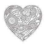 Paper House Productions - Coloring Cards - Heart