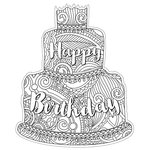 Paper House Productions - Coloring Cards - Birthday Cake