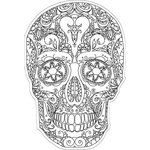 Paper House Productions - Coloring Cards - Sugar Skull