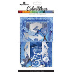 Paper House Productions - Color Ways Collection - Sapphire - Accents - Die Cut Cardstock Pieces