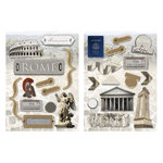 Paper House Productions - Rome Collection - Die Cut Chipboard Pieces - Rome