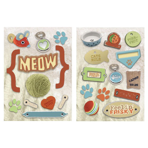 Paper House Productions - Cat Collection - Die Cut Chipboard Pieces - Cat