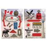 Paper House Productions - Canada Collection - Die Cut Chipboard Pieces - Canada