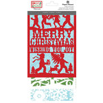 Paper House Productions - Home for Christmas Collection - Die Cut Cards - Merry