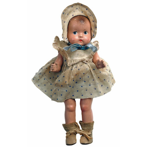 Paper House Productions - Baby Girl Collection - Mini Die Cut Piece - Antique Doll