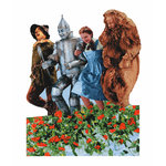 Paper House Productions - Wizard of Oz Collection - Mini Die Cut Piece - Poppy Field of Oz