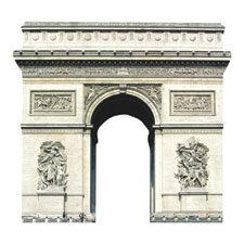 Paper House Productions - Paris Collection - Mini Die Cut Piece - Arc de Triomphe