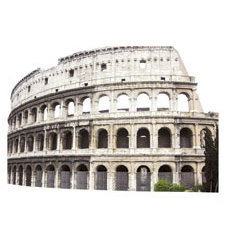Paper House Productions - Rome Collection - Mini Die Cut Piece - Colosseum
