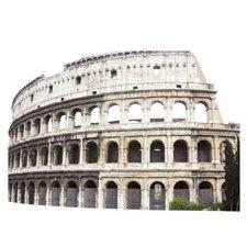 Paper House Productions - Rome Collection - Mini Die Cut Piece - Colosseum