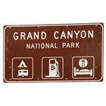 Paper House Productions - Arizona Collection - Mini Die Cut Piece - Grand Canyon Sign