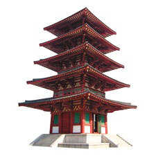 Paper House Productions - Travel Collection - Mini Die Cut Piece - Pagoda