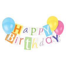 Paper House Productions - Birthday Collection - Mini Die Cut Piece - Birthday Banner