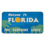 Paper House Productions - Florida Collection - Mini Die Cut Piece - Florida Sign