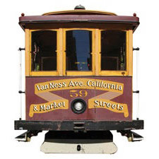 Paper House Productions - San Francisco Collection - Mini Die Cut Piece - Cable Car