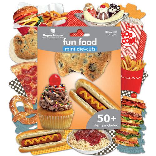 Paper House Productions - Mini Die Cut Pack - Fun Food