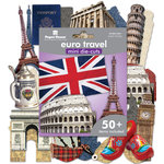 Paper House Productions - Mini Die Cut Pack - Euro Travel