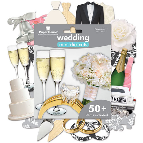 Paper House Productions - Mini Die Cut Pack - Wedding