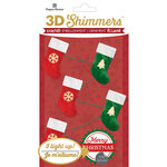 Paper House Productions - Christmas - 3 Dimensional LED Shimmers - Stocking Garland