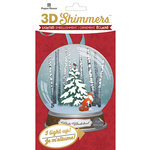 Paper House Productions - Christmas - 3 Dimensional LED Shimmers - Woodland Snow Globe