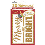 Paper House Productions - Christmas - 3 Dimensional LED Shimmers - Merry and Bright