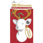Paper House Productions - Christmas - 3 Dimensional LED Shimmers - Deer Head