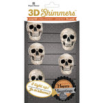 Paper House Productions - Halloween - 3 Dimensional LED Shimmers - Skull Garland