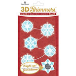 Paper House Productions - Christmas - 3 Dimensional LED Shimmers - Snowflake Garland