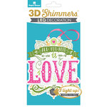 Paper House Productions - 3 Dimensional LED Shimmers - All You Need Is Love