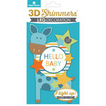 Paper House Productions - 3 Dimensional LED Shimmers - Baby Boy